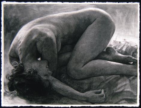 """Curled Figure II  22"""" x 30"""""""