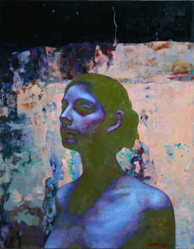 "Head on Pink  30"" x 24"""