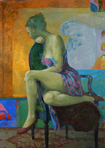 "Seated Woman  56"" x 40"""