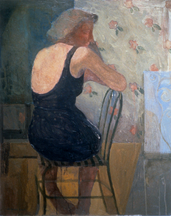 "Seated Woman  50"" x 40"""