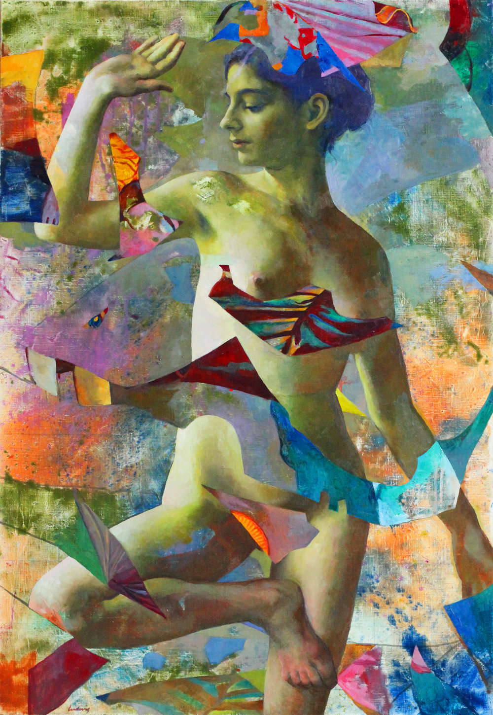 """Dancer""  Oil on Linen  30"" x 40"""