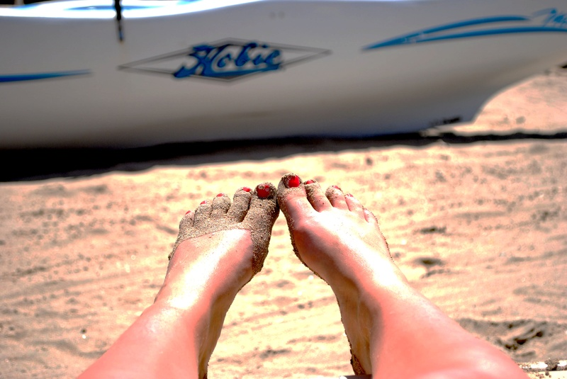 Toes in the sand - no better place