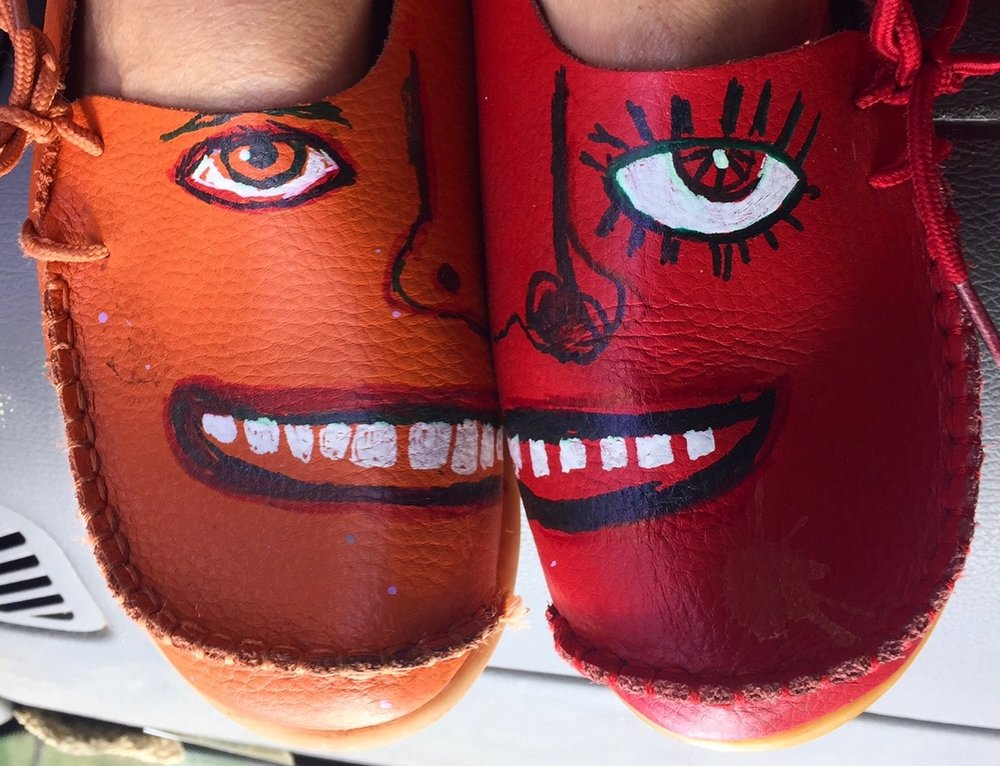I love these shoes!! they come in 17 different colors, are super comfy and so affordable that you can buy several colors and mix and match! YAY! I even had fun with a few sharpies and made some faces! See the link below!