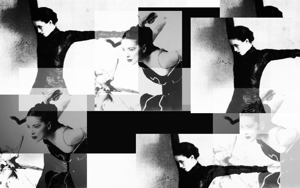 Martha Graham - photo collage via killt spirit