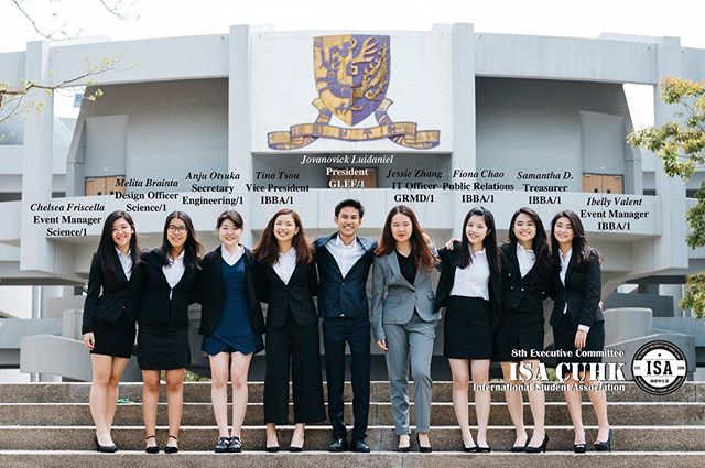 . Hello everyone, we are the 8th Executive Committee of International Student Association of the Chinese University of Hong Kong. - If you have any inquiries, feel free to contact us! Facebook Page: International Student Association of CUHK Buy and Sell Group: https://www.facebook.com/groups/isa.cuhk.buysell Website: http://www.isa-cuhk.com/ Instagram: https://instagram.com/isa.cuhk E-mail: isa.cuhk@gmail.com ---------------------------------------------------- Photo credit: @kriszaa_007  Design: @melitabraintaa