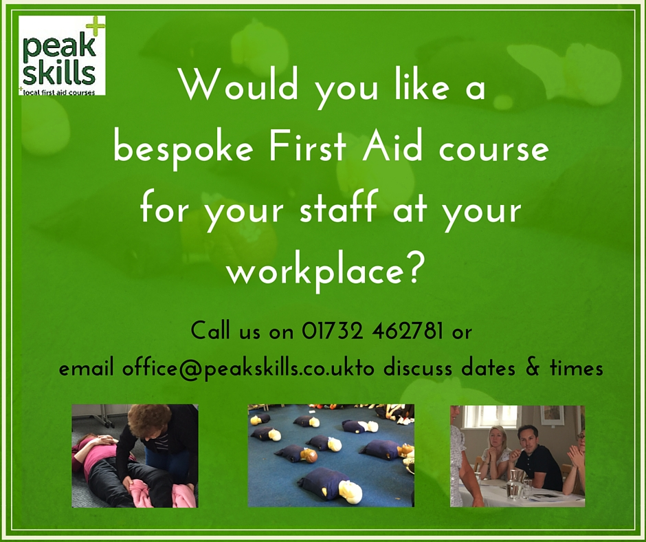 Peak skills in house First Aid courses