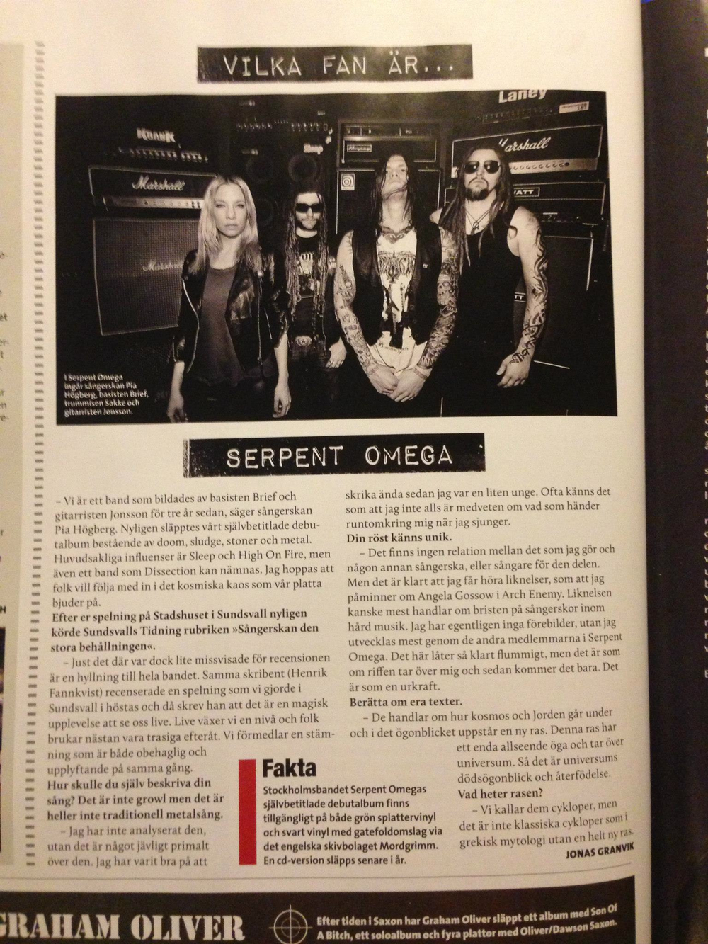 Interview / Sweden Rock Magazine