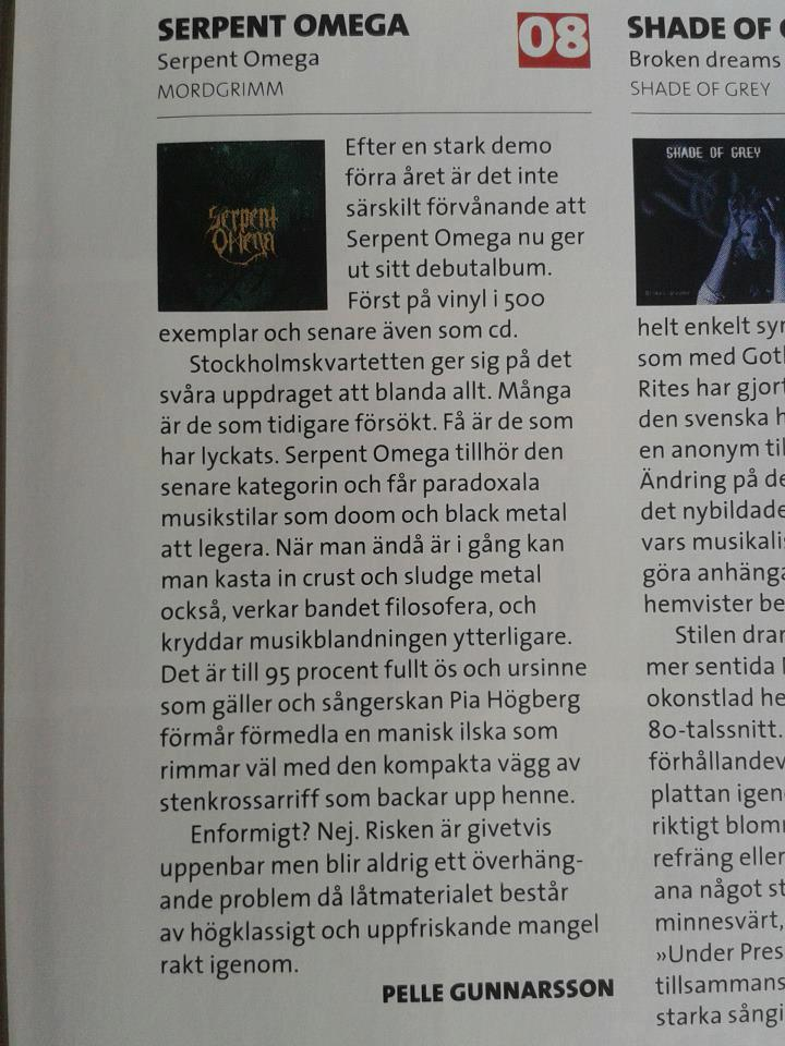 Review / Sweden Rock Magazine