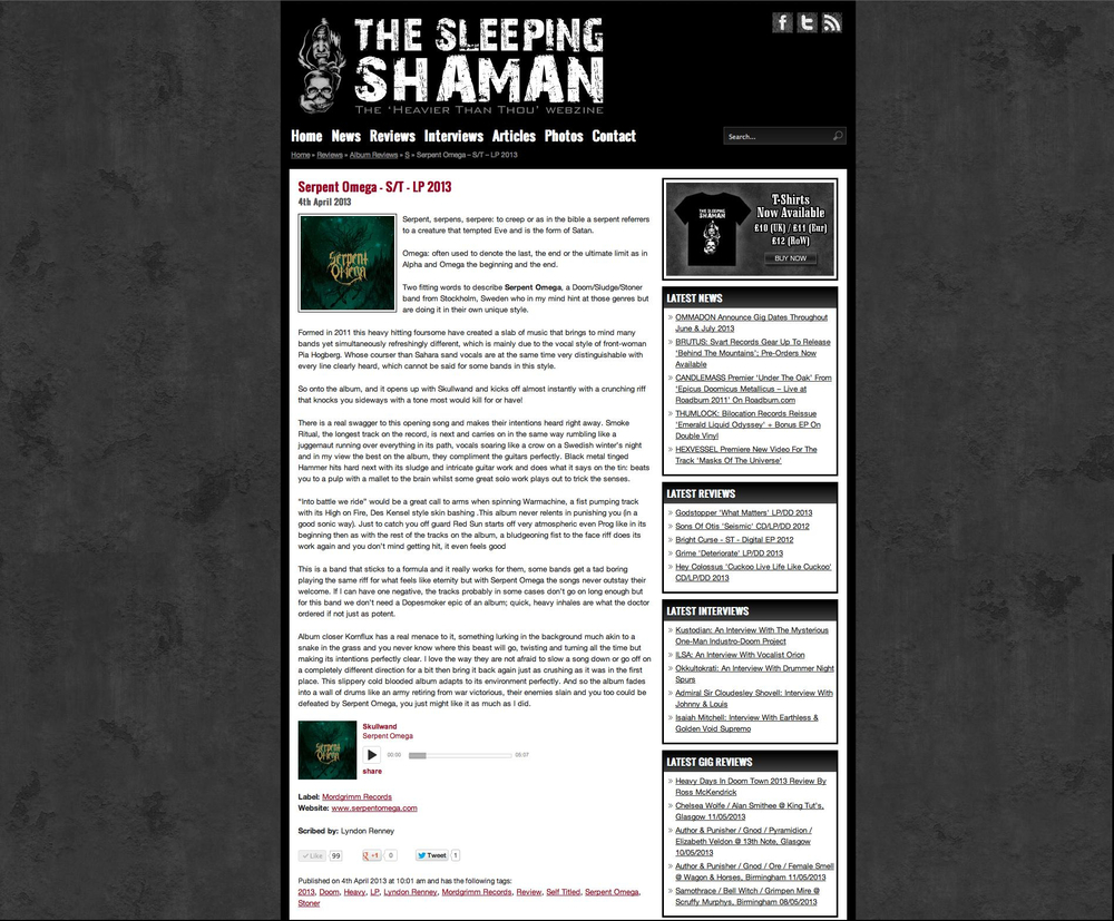Review / The Sleeping Shaman