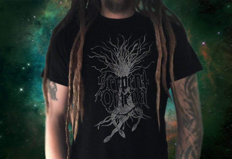SERPENT TREE T-shirt  Black with grey print Size: M-XL (all girlies and size Small SOLD OUT) 120SEK/14€   Send an email to  serpentomega[at]live.com  with your order.    Postage will be calculated depending on order-size and destination.