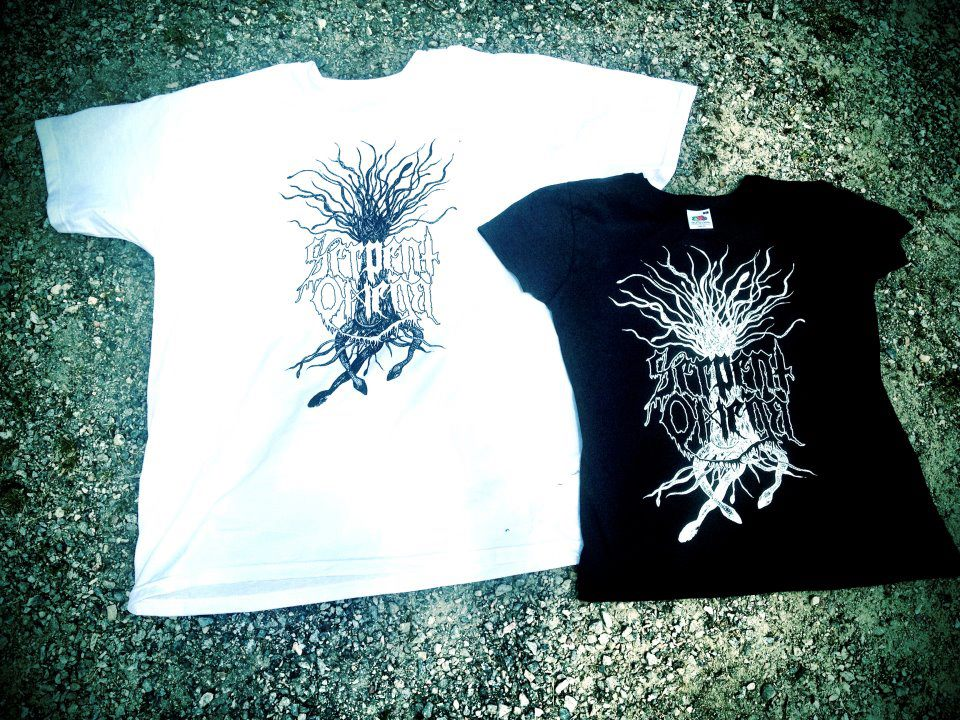 SERPENT TREE T-shirt White with black print Black with white print.  SOLD OUT!
