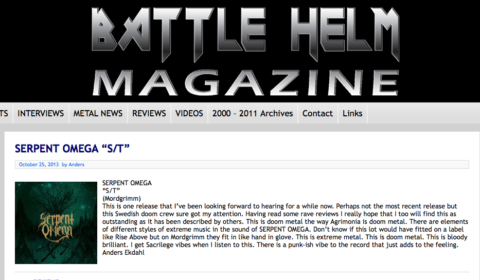 Review / Battle Helm Magazine