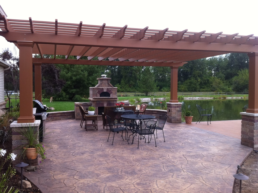 Paver Patios, Natural Stone Patios, Concrete Patios, Stamped Concrete,  Unilock, Belgard, Oberfields, Fire Pit, Fire Place, Grill, Built In Grill,  ...