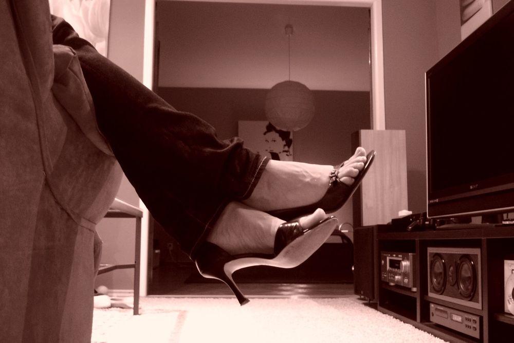 v takýchto topánkach už len na pár hodín, alebo len na gauči...