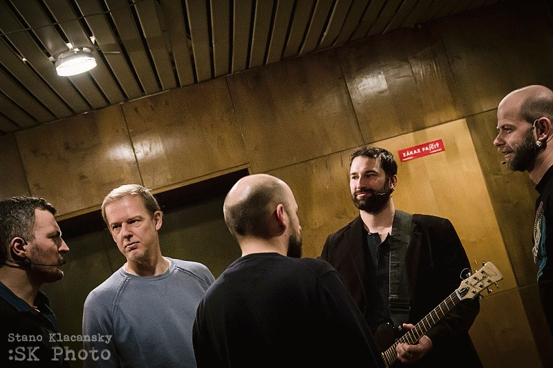 počas relácie Od veci_FM s kapelou Korben Dallas, foto: Stano Klačansky