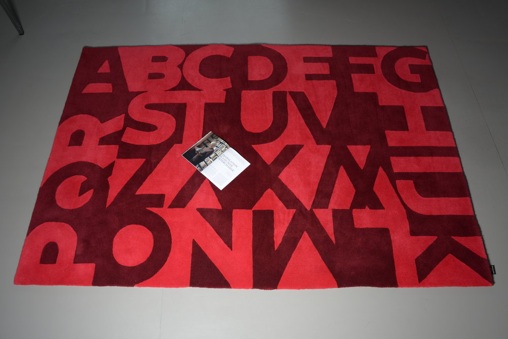Typographic carpet