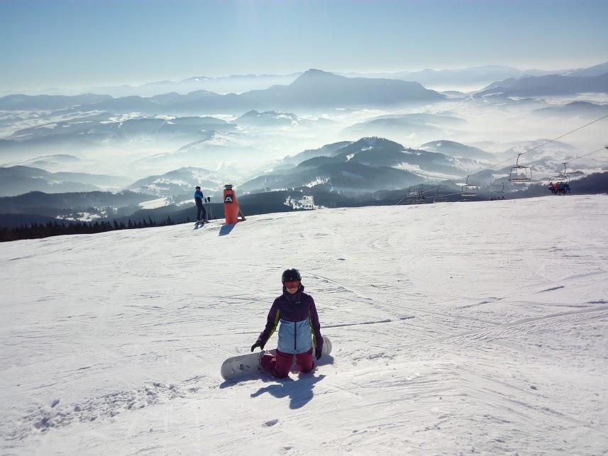 z nedávnej lyžovačky