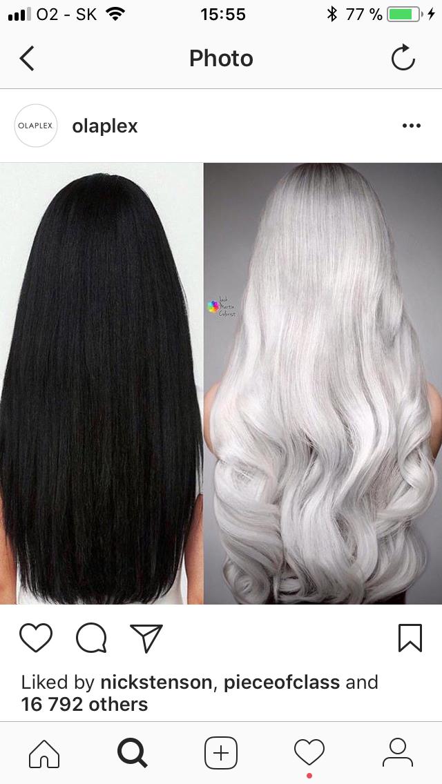 foto: instagram, procedúra premeny z nefarbených čiernych na platinovú blond trvala kaderníkovi  Jackovi Martinovi  8 hodín