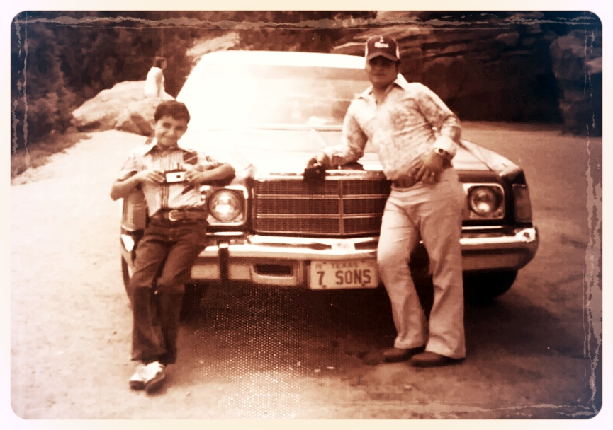 I want to Thank my big brother  Juan Cantu  for sending me this wonderful memory of a family trip to Colorado. That's me on the left with my first camera.
