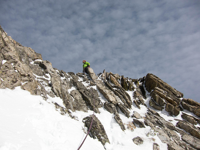 Heading up the last pitch on Flickr.