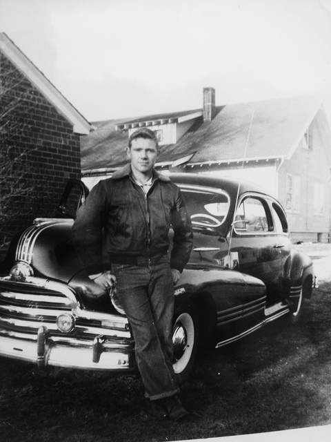 Donald Dacus  on Flickr.  My grandfather, and his new car. (Photo of a photo.) Wonderful to look through 80+years of photos.