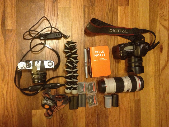 Photo kit for the trip. on Flickr.