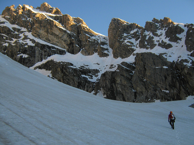 Approaching the Koven Couloir on Flickr. Photo by Wes