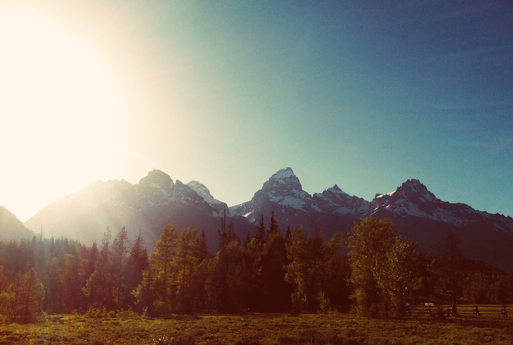 Teton Sunset.