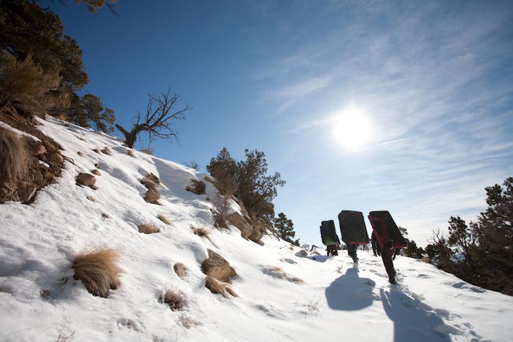 Joe's Valley: Bouldering in the snow. More photos to follow.