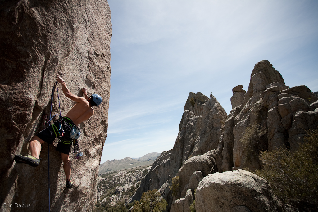 Greg on Crack of Doom, 5.11d in the City of Rocks-4 (via  eric.dacus )
