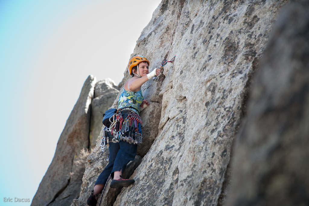 Polly on Bloody Fingers, 5.10a (via  eric.dacus )   One of the better photos from this weekend in the City of Rocks, ID. More photos to come and will be posted  here .