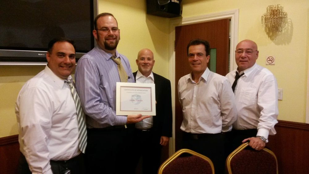 In August 2013, I was presented with a Certificate of Appriciation for my ten years of service with Hellmann Worldwide Logistics. (I actually had my ten year point in May, but it's still a very nice gesture .) In the picture (from left to right are: Mark Sola (VP Import Trade Compliance and Brokerage Services - Hellmann US), me, Chuck Pyatte (Regional Vice President: Western Region - Hellmann US), Roger Haeussler (Global Operations Manager - Hellmann Worldwide), and Arnold Goldstein (Chief Operations Officer - Hellmann US)