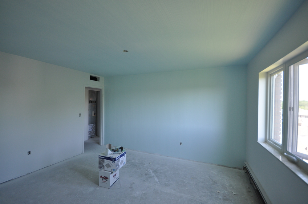 'mucho-gusto' texture with Sherwin Williams Blue Horizon paint.