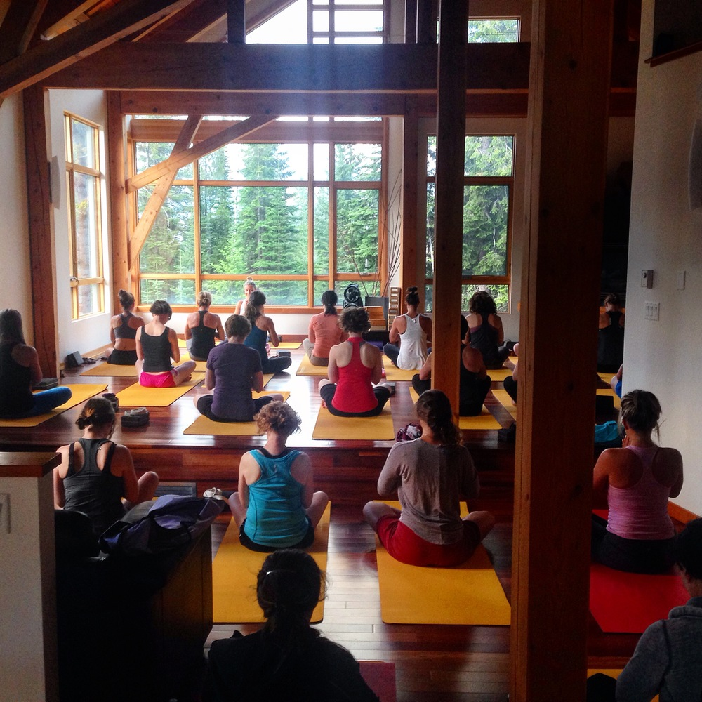 Yoga in our beautiful studio opened our hips and hearts.