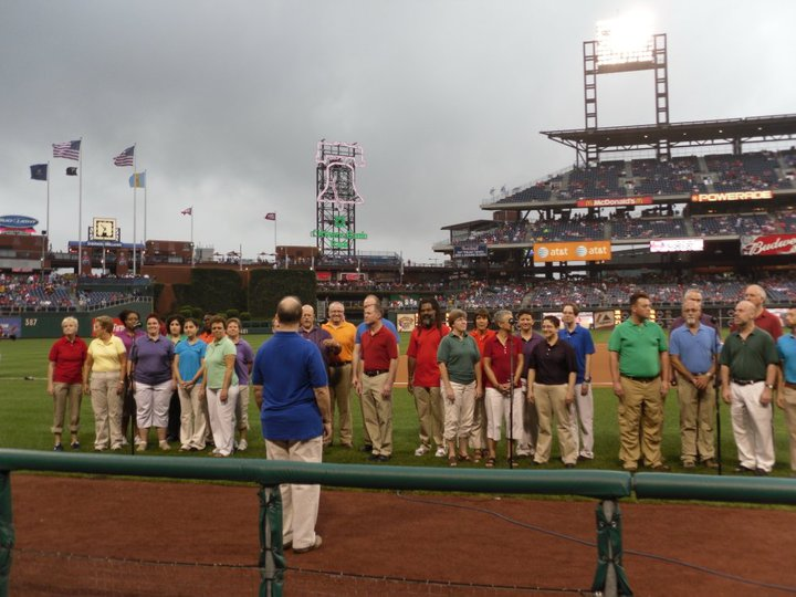 Singing at the Phillies Game