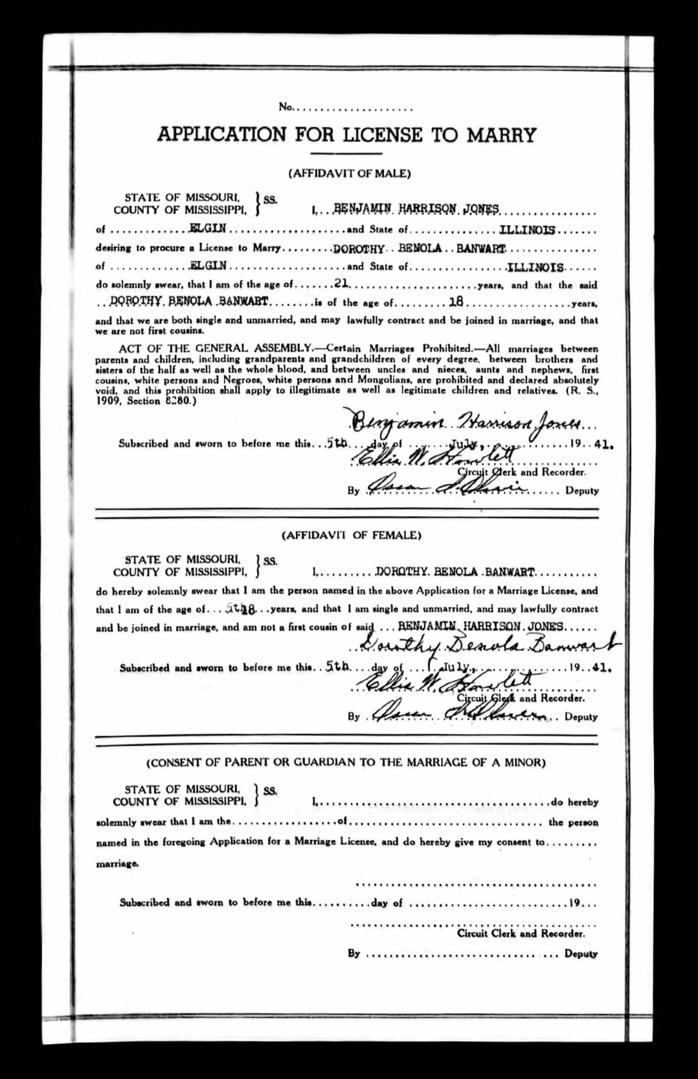 Grandma and Grandpa Jones' Marriage License.jpg