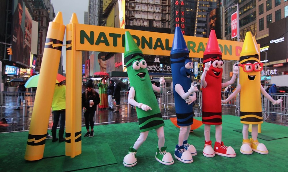 - NATIONAL CRAYON DAY TIMES SQUARE EVENT / CRAYOLA / Production Designer: Rachel MyersStylist