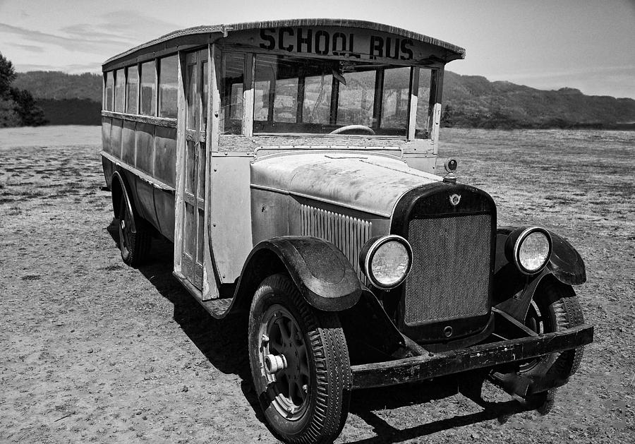 What some of the first school buses looked like.