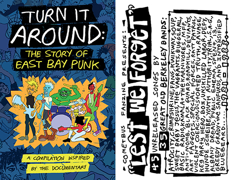 turn it around: the story of east bay punk / lest we forget 2xcassette (go-70+go-71/bbt7)