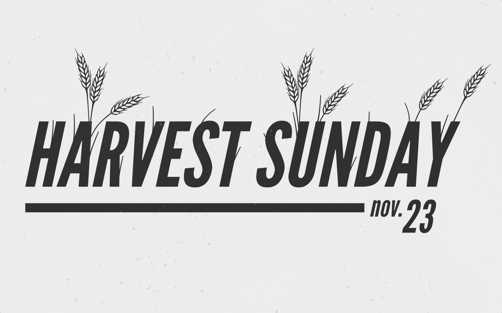 Harvest Sunday 2014