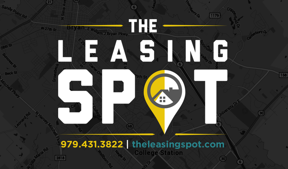"""The Leasing Spot"" logo - local property management co. 2016"