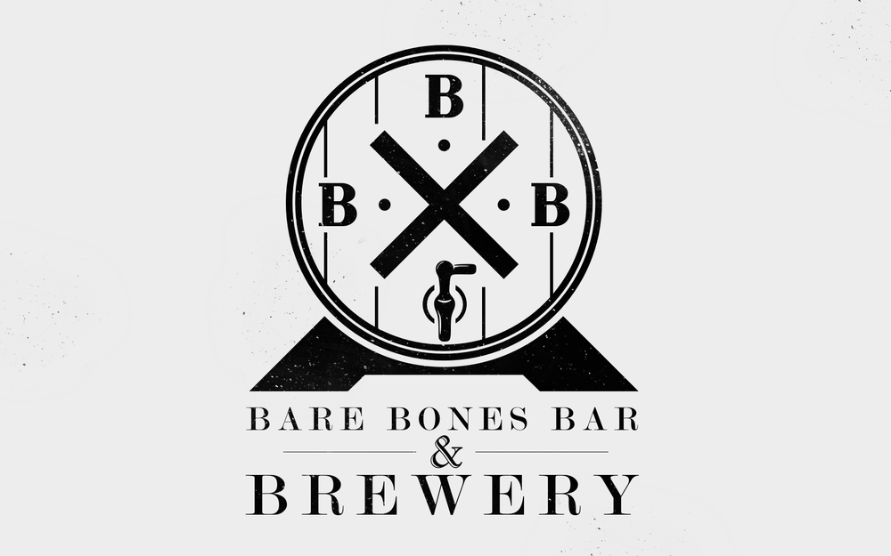 """Bare Bones Bar & Brewery"" logo - local bar & brewery 