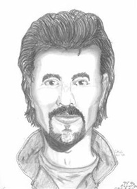 Current police sketch of unknown man