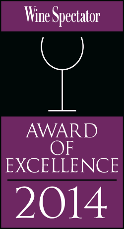 Wine Spectator Award for 11 years in a row!   2003 - 2014