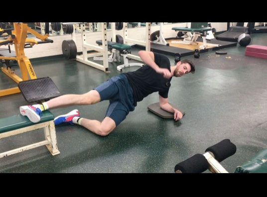 TODAY'S EDGE: SIDE PLANK ADDUCTOR LIFT WITH HIP FLEXION ...