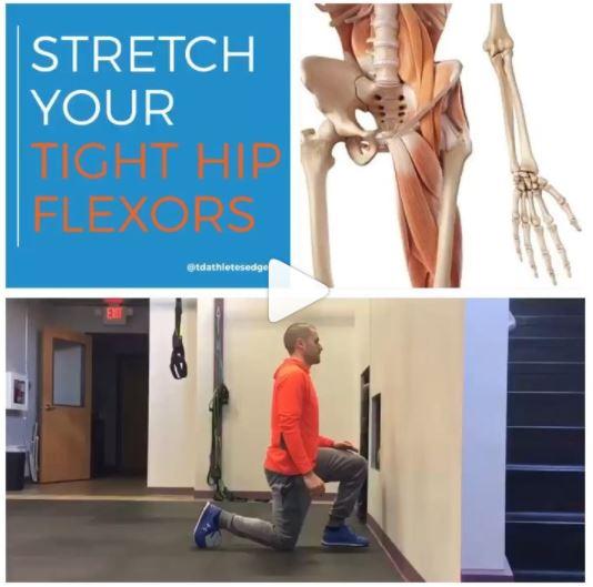 Stretch your tight hip flexors — TD Athletes Edge