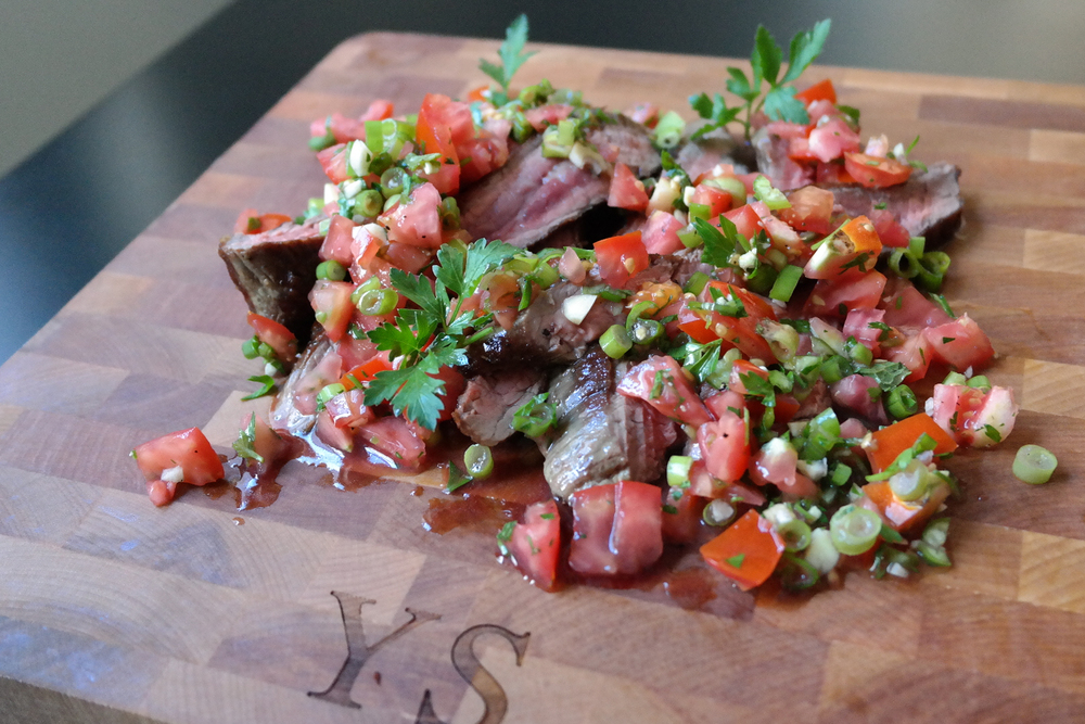 flank steak with salsa fresca