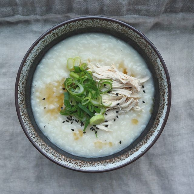 닭죽 (korean chicken and rice porridge/dakjuk) 🌧 - #죽 #보양식 #홈쿡 #집밥 #comfortfood #koreanfood