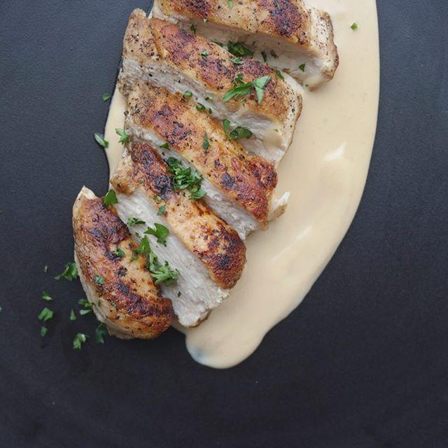 닭가슴살 & 된장 베샤멜 소스 (chicken breast & doenjang bechamel sauce) - #홈메이드 #요리연구 #퓨전음식 #homecook #experimenting #koreanfusion