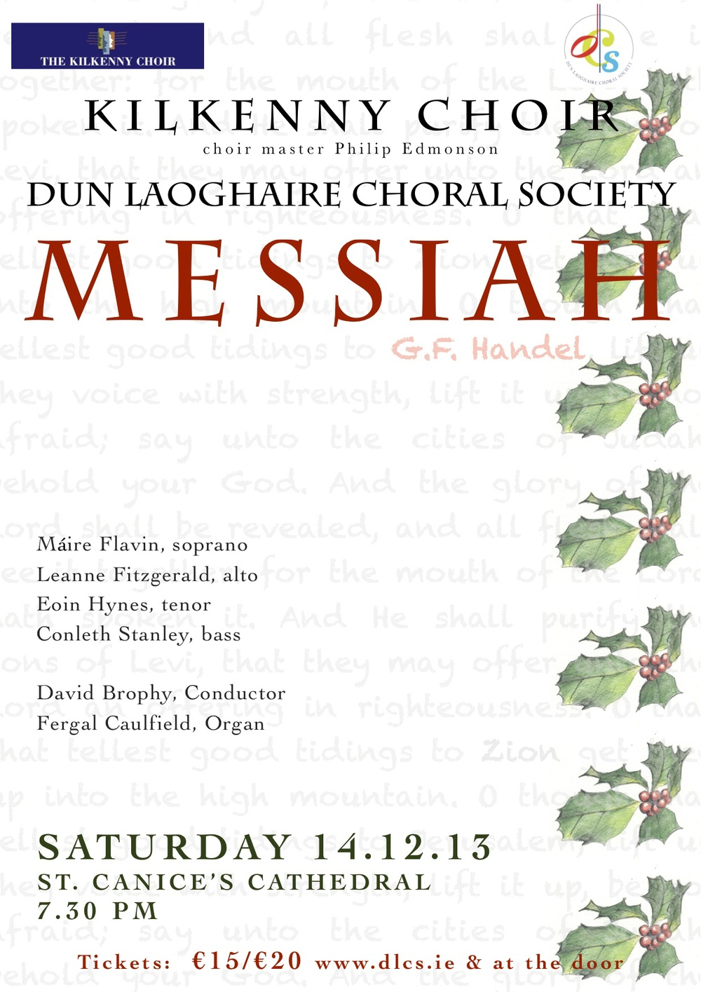 Handel's Messiah in Kilkenny, DLCS and Kilkenny Choir